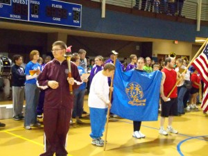The opening ceremonies for the Special Olympics at the William Penn PAC Center