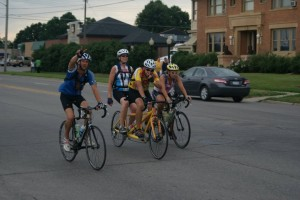 Riders continue to enter Grinnell around 6 p.m. on Thursday, Day 5 of their journey on RAGBRAI