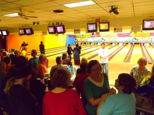 Lots of good times were had by everyone at the 1st Annual 'Ten Pin Turkey Roll' Friday night at Mahaska Bowl (photo by Ginger Allsup)