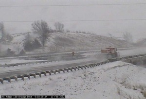 Winter weather has rushed back into the area today causing difficult travel at times