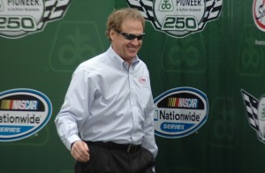 Rusty Wallace was inducted into the 2013 Hall of Fame Class is seen here Sunday at Iowa Speedway (photo by Ginger Allsup)