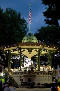 Oskaloosa City Band performance at the end of July 2012