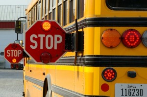 Officials remind drivers that passing a stopped school bus is illegal, and this year, the penalties for do so are increased. (photo by Ginger Allsup)