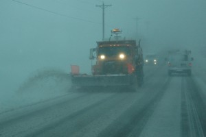 This Iowa DOT truck works to keep roads open during the most recent winter storm.