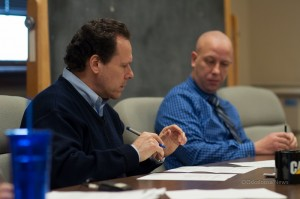 Supervisors Greg Gordy (left) and Mike Vander Molen (right) at Monday's meeting.