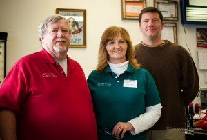 From left to right: Terry Anderson, Becky Anderson and Mayor Shawn Maxwell