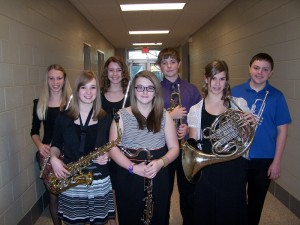 Representing Oskaloosa in the District Honor Band concert in Iowa City will be the following: Sienna DeJong, flute Leah VanMaanen, flute Christen Flatt, bass clarinet Annie Fitzpatrick, alto saxophone Melissa Moorman, French Horn John Hammes, trumpet Mason VanEngelenhoven, trumpet (submitted photo)