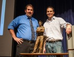 OHS art teacher and sculptor ??? and Statuary Hall artist Benjamin Victor pose in from the ???? miniature.