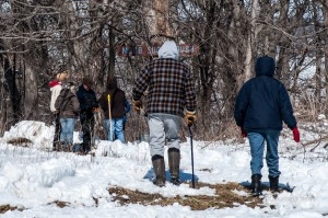 Area residents braved the snowy conditions to enjoy a bit of nature at her sweetest during Saturday's Maple Syrup Festival.