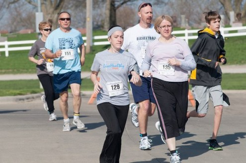 Approximately 100 runners took part in the United Way 5K on Saturday.