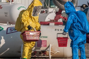Training to be  'Tech Level' in HAZMAT was the purpose of this weeks exercise. (photo by Ginger Allsup)