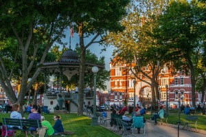 The Oskaloosa City Band performs each Thursday at 8pm in the evening during summer.