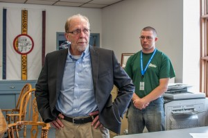 Congressman Dave Loebsack (D) was in New Sharon on Friday to hear from local official how the flooding had impacted the community.