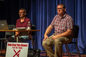 Supervisor Mark Doland (right) helped to answer questions at Thursday nights T.A.R.A. town hall meeting.