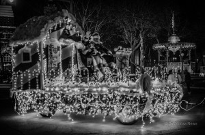Old Time Country Christmas at Nelson Pioneer Farm and Museum this Thursday, Friday or Saturday evening. (photo from the Oskaloosa Lighted Christmas Parade)