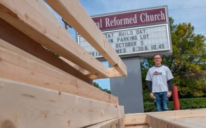Andy Baker seen here at a recent work day at Central Reformed Church in Oskaloosa.