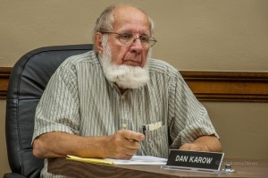 Dan Karow at a recent Planning and Zoning Commission meeting.