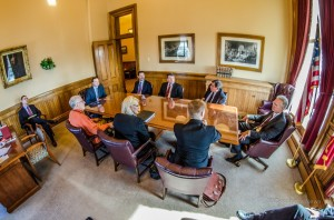 Oskaloosa and Mahaska County business owners and elected officials met with Senate and House leadership to discuss the needs of infrastructure in the area.