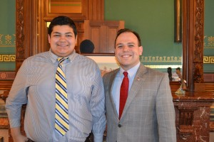 Jordan Pope (left) of Albia High School and Iowa Secretary of State Matt Schultz. (submitted photo)