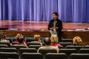 Anne Cundiff, a registered and licensed dietitian with Hy-Vee spoke with parents recently about school breakfast and lunch.