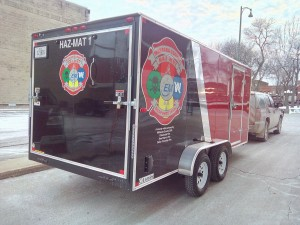 One of the new Mahaska Haz-Mat trailers.