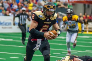 The Iowa Barnstormers defeated the LA KISS Saturday night at Wells Fargo Arena. (photo by Ginger Allsup/Oskaloosa News)