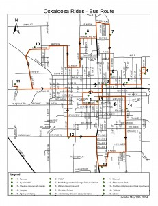 Oskaloosa Fixed Bus Route - May 2014 (click for larger view)
