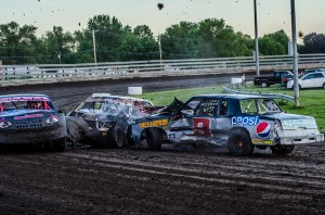 The racing action at Southern Iowa Speedway Wednesday was fast and hotly contested.