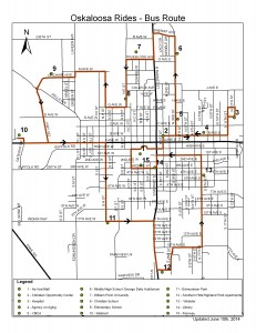Oskaloosa Rides Route Map (click for larger version)