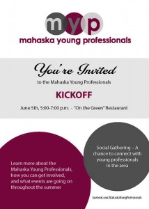 Mahaska Young Professionals Kickoff - June 5th 5-7pm