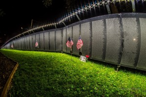 """The Wall That Heals"" drew visitors nearly 24 hours a day during it's stay in Oskaloosa."