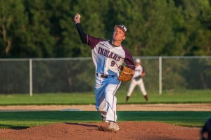 Oskaloosa Indians Senior Pitcher Travis Gile helps lead Oskaloosa to a victory over Washington on Senior Night.