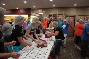 Volunteers helped to pack over 31,000 meals. (submitted photo)