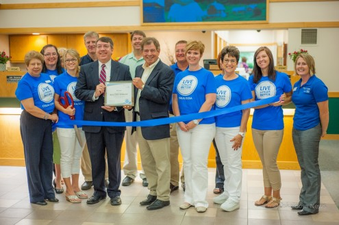 Bank Iowa in Oskaloosa celebrated their Blue Zone Worksite designation on Wednesday.