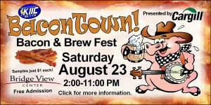 KIIC along with Cargill, Ottumwa are teaming up for the area's first Bacon and Brew event Saturday August 23rd at the Bridgeview Center.