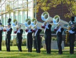 Band members warm up for ValleyFest competition on October 11, 2014.  (submitted image)