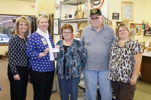 The Mahaska County Outreach Thrift Store, located at 114 N First St. in Oskaloosa, recently presented a $1,014.45 check to the Mahaska Health Partnership Hospice Serenity House. According to Mahaska County Outreach Store Manager Alice Moore, the donation was proceeds from the Thrift Store's September Bag Sale. Shown at the check presentation are, from left: MHP Hospice Volunteer Coordinator Lisa McNulty, MHP Chief Operating Officer Erin Baldwin, Mahaska County Outreach Thrift Store Manager Alice Moore and Volunteer Keith Moore and MHP Hospice Coordinator Kim Stek. The Mahaska County Outreach Thrift Shop is a non-profit organization. All proceeds raised after normal store expenses are distributed to other non-profit organizations in the county.