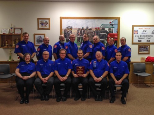 The New Sharon Fire & Rescue was recently honored with the IEMSA Volunteer Service of the Year award. It's presented for excellence in service by your participation in Emergency Medical Services in Iowa.