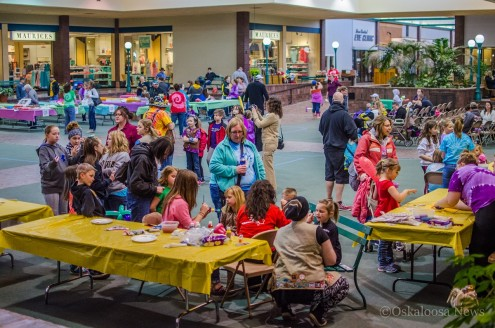 The 5th Annual Girl Scouts Dessert Auction drew a substantial crowd on Saturday.
