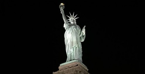 Statue of Liberty with Musco LED Lighting (photo courtesy of Musco)