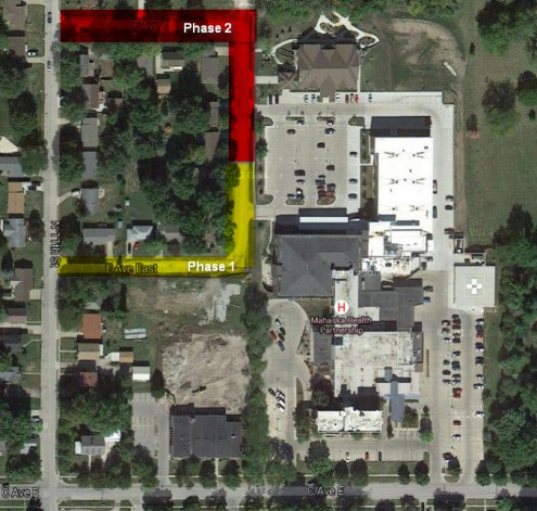 The following map was taken off Google Earth, which doesn't show more recent updates to the MHP campus.