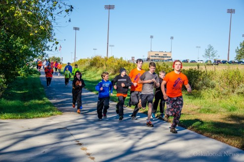 Several dozen participants enjoyed the fall weather for the PUSH 5k held at the Lacey Complex and Recreation Trail on Saturday.