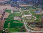 Aerial view of the Lacey Recreation Complex - Fall 2015