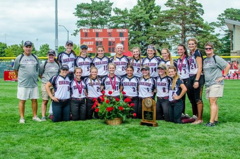 The 2016 Iowa Class 4A State Softball Champions - The Oskaloosa Indians