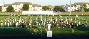 Eddyville-Blakesburg-Fremont marching band at Pella.