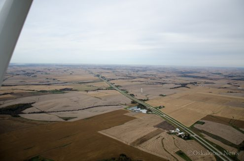An aerial view of the land that might be impacted by a new regional airport. (file photo)