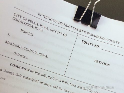 Legal documents were filed in Mahaska County District Court by Pella and Oskaloosa to force Mahaska County to once again participate in the 28E agreement for a regional airport.