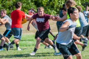 Those interested in football took part in a week long football camp hosted by the OHS coaching staff.