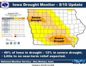 Iowa Drought Monitor for August 10, 2017