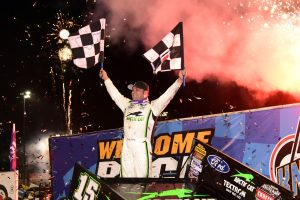 Donny Schatz won his tenth career Knoxville Nationals title Saturday (Paul Arch Photo)